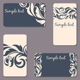Set of business Cards. Beauty designs. Vintage cards Royalty Free Stock Images