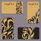 Set of business Cards. Beauty designs. Vintage cards Royalty Free Stock Photography