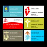 A set of business cards of the church, a ministry or mission, a club or camp, using a creative logo. A set of business cards of the church, a ministry or royalty free illustration