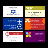 A set of business cards of the church, a ministry or mission, a club or camp, using a creative logo. A set of business cards of the church, a ministry or vector illustration