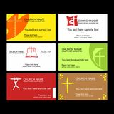 A set of business cards of the church, a ministry or mission, a club or camp, using a creative logo. A set of business cards of the church, a ministry or stock illustration