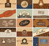 Set of business cards on the coffee theme Stock Photo