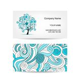 Set of business cards design with art tree Royalty Free Stock Images