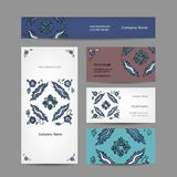 Set of business cards design, turkish ornament Royalty Free Stock Image