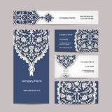 Set of business cards design, turkish ornament Stock Images