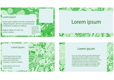 Set of business cards in doodle style Stock Photos
