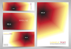 Set of Business Cards or Gift Cards Stock Photography