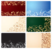 Set of business cards with ornate elements. Illustration Royalty Free Stock Photos