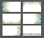 Set of business cards. Pixel art Royalty Free Stock Images