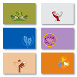 Set of Business Cards - Spirituality/Energy/Hands Stock Images