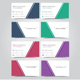 Set of business cards template Royalty Free Stock Photo
