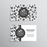 Set of business cards. Templates for wine company Royalty Free Stock Images