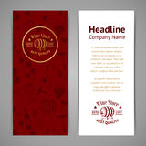 Set of business cards. Templates for wine company Stock Photography