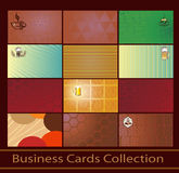 Set of business cards Royalty Free Stock Image