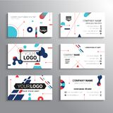 Set of business cards - vector template abstract background Stock Photos
