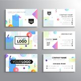 Set of business cards - vector template abstract background Royalty Free Stock Photos
