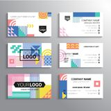 Set of business cards - vector template abstract background Stock Image