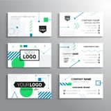 Set of business cards - vector template abstract background Royalty Free Stock Photo