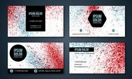 Set of business cards with watercolor background. Royalty Free Stock Image