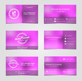 Set of business cards for wine Stock Photography