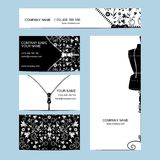 Set of business cards. For your design Royalty Free Illustration