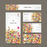 Set of business cards for your design Royalty Free Stock Photo