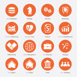 Set of Business Career Icon in Flat Design Royalty Free Stock Photography