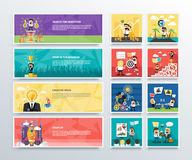 Set of business character banners Stock Photos