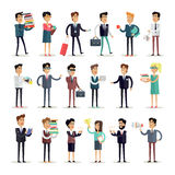 Set of Business Characters Vector in Flat Design. Royalty Free Stock Photos