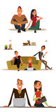 Set of business characters. Characters for web design. srt of characters Royalty Free Illustration