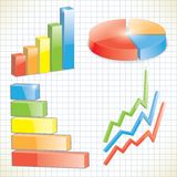 Set of business charts Stock Photo