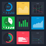 Set of  business charts Royalty Free Stock Photos