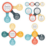Set of business circle info graphic, diagram Royalty Free Stock Photography