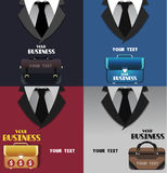 Set of business colored backgrounds with space for text Royalty Free Stock Photos