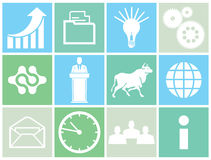 Set of business concept icons Stock Photo