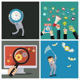 Set of business concepts. Time management Royalty Free Stock Image