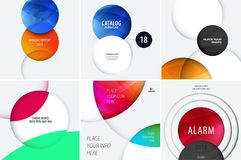 Set Business design of abstract vector elements for graphic template. Modern background. Royalty Free Stock Images