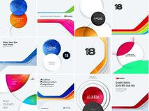 Set Business design of abstract vector elements for graphic template. Modern background. Stock Image