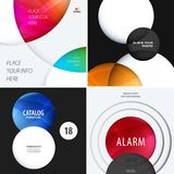 Set Business design of abstract vector elements for graphic template. Modern background. Royalty Free Stock Photography