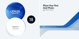 Set Business design of blue abstract vector elements for graphic template. Modern background. Stock Photography