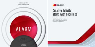 Set Business design of red abstract vector elements for graphic template. Modern background. Royalty Free Stock Images