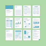 Set of business A4 documentation templates Royalty Free Stock Image