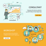 Set of Business Education Vector Web Banners Royalty Free Stock Photography