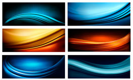 Set of business elegant colorful abstract backgrou Royalty Free Stock Photo