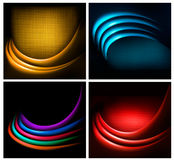 Set of business elegant colorful abstract backgrounds Stock Photos