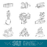 Set of business engraving icon Stock Image