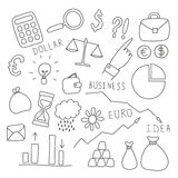 Set of business and finance elements Royalty Free Stock Photography