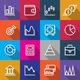 Set of Business Finance Icons Designs Stock Image