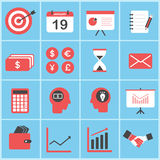 Set of business and finance icons set vector Stock Image
