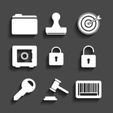 Set of business and Finance icons Royalty Free Stock Photography
